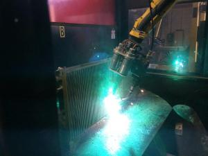Robotic welder at ECS